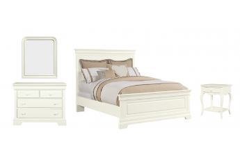 Stone & Leigh Teaberry Lane 4-Piece Panel Bedroom Set in Stardust