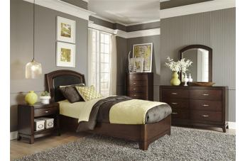 Exceptionnel Liberty Furniture Avalon Youth 4 Piece Leather Platform Bedroom Set In Dark  Truffle
