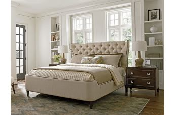 Lexington Furniture MacArthur Park 4 PC Mulholland Upholstered Platform Bedroom  Set