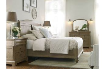 Kincaid Furniture Stone Street 4-Piece Sleigh Bedroom Set in Hand Rubbed