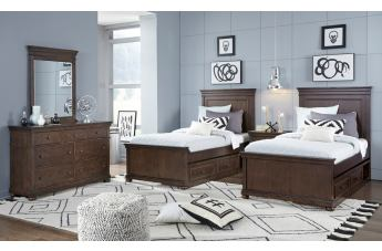 Legacy Classic Kids Canterbury 4pc Panel Bedroom Set in Warm Cherry