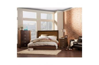 Alpine Furniture Element 2 4-Piece Platform Bedroom Set in Espresso