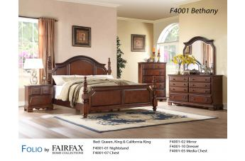 Fairfax Home Furnishings Folio Bethany Panel Bedroom Set in Maple Brown