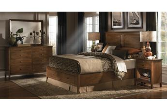 Kincaid Cherry Park Solid Wood Panel Storage Bedroom Set CODE:UNIV20 for 20% Off
