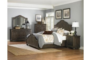 Magnussen Furniture Brenley Panel Bedroom Set in Natural Umber
