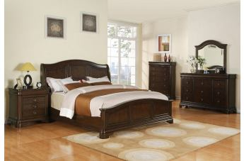 Elements Cameron Panel Bedroom Set in Dark Cherry