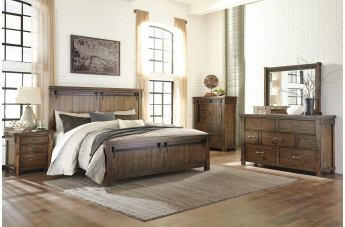 Lakeleigh 4pc Panel Bedroom Set in Brown