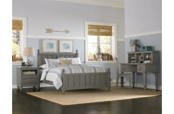 Hillsdale Furniture Lake House 4pc Kennedy Panel Bedroom Set in Stone PROMO