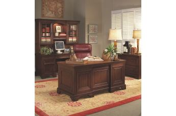 Aspenhome Richmond Home Office Executive Desk Set in Charleston Brown