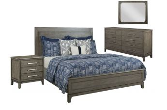 Kincaid Furniture Cascade Kline 4pc Panel Bedroom Set in Sable