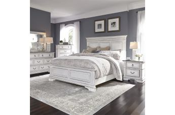 Liberty Furniture Abbey Park 4pc Panel Bedroom Set in Antique White EST SHIP TIME IS 4 WEEKS