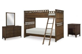 Legacy Classic Kids Sawyers Mill 4-Piece Bunk Bedroom Set in Oiled Oak