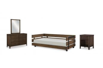 Legacy Classic Kids Sawyers Mill 4-Piece Twin Day Bedroom Set in Oiled Oak