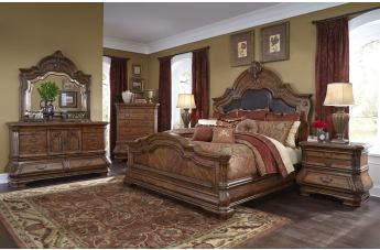 AICO Tuscano Melange 4pc Bedroom Set in Melange