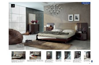 ESF Furniture Barcelona 4-Piece Platform with Storage Bedroom Set in Dark Brown