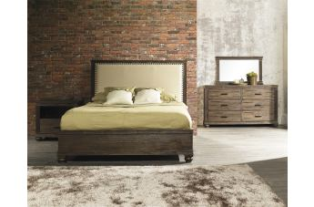 Zuo Modern The City 4 Piece Panel Bedroom Set in Dark Brown