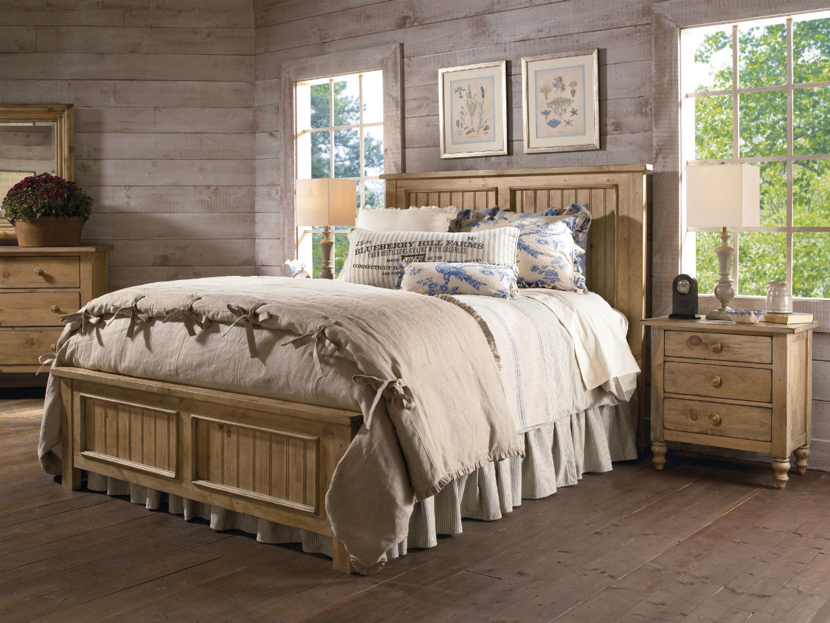 Kincaid Homecoming Solid Wood Panel Bedroom Set In Vintage