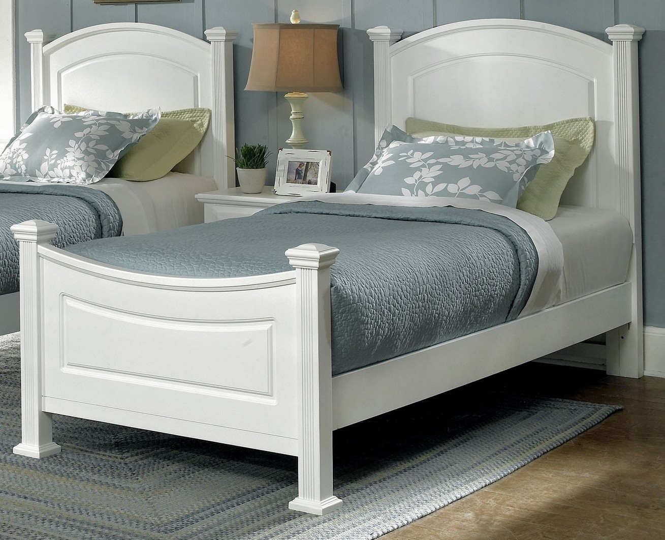 Vaughan Basset Hamilton Franklin Twin Panel Bed In Snow White